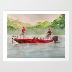 Buy Fishing for Bass Art Print by DJ Beaulieu. Worldwide shipping available at Society6.com. Just one of millions of high quality products available.