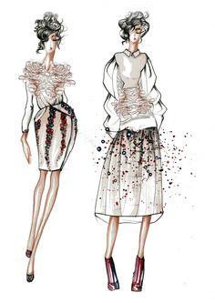 Fashion Illustration-octopus inspiration.by Viridiana Carota