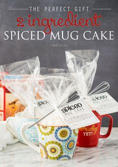 2 Ingredient Spiced Mug Cake