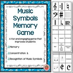 Music Symbols Memory Game Have fun while learning with Music Symbols Memory. Students must use their memory, concentration and knowledge of MUSIC SYMBOLS to match the symbol with its correct name!