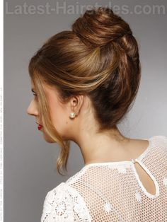 Simple French Twist Bun Hairstyle