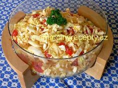 Salát s balkánským sýrem Protein, Cooking Recipes, Healthy Recipes, Russian Recipes, Potato Salad, Macaroni And Cheese, Catering, Salads, Food And Drink