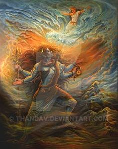 DeviantArt: More Like Lord Shiva (The Supreme God) -Digital Painting by SanjulWhiteShadow