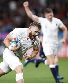 England's Luke Cowan-Dickie runs to score a try during the Rugby World Cup Pool C game between England and Tonga at Sapporo Dome in Sapporo, northern Japan, Sunday, Sept. (Naoya Osato/Kyodo News via AP) rugby team stays humble after Donald Trumps' quip Dan Cole, 2003 World Cup, Jonathan Joseph, England Players, Trump Comments, World Cup Winners, Rugby World Cup, Stay Humble