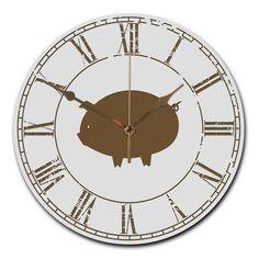 Wanduhr rund Schwein aus MDF  Weiß - Das Original von Mr. & Mrs. Panda.  Eine wunderschöne runde Wanduhr aus hochwertigem MDF Holz mit goldenen Zeigern und absolut lautlosem Uhrwerk    Über unser Motiv Schwein  Das Schwein gilt als Glücksbringer und wird gerne verschenkt, wenn jemand auf schnelles Glück angewiesen ist.   Auch spielen Schweine in unserer Landwirtschaft eine wichtige Rolle. Wer also das perfekte Accessoir für die Küche aucht oder Schweine sammelt, oder einen besonderen…