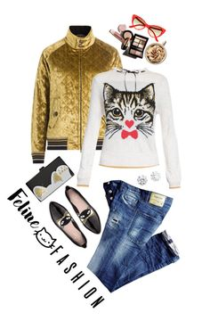 """Feline Fashion"" by shortyluv718 ❤ liked on Polyvore featuring Edie Parker, Maison Margiela, Kate Spade, Kenneth Jay Lane and catstyle"