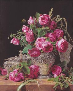 Ferdinand Georg Waldmuller, Roses,1843