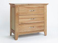 Cotswold Oak Chest 3 Drawer - http://www.solidoakfurniture.co.uk/ranges/cotswold-oak/oak-chest-3-drawer.html