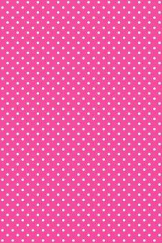 Pink polka dot iPhone wallpaper