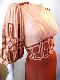 Trim, sleeve style, bust gathers, waistline - like it all dress, DCV archives We create not only small series fashionable accessories for everyday. 1930s Fashion, Retro Fashion, Vintage Fashion, Womens Fashion, Victorian Fashion, Fashion Fashion, Gothic Fashion, Fashion Dresses, Vintage Gowns