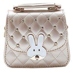 3551d45a96743 Happy Cherry Kleines Mädchen Tasche Kinder Umhängetasche Mode Frauen  Schultertasche PU Leder Handtasche Mit Hase Muster