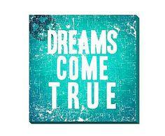 Para los artistas: Cartel decorativo Dreams – azul