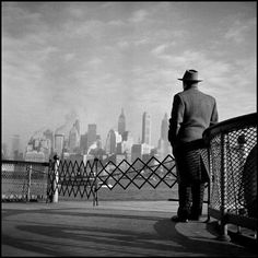 Burt Glinn - View of Lower Manhattan from the Staten Island Ferry,USA, New York City, 1951. From Burt Glinn/Magnum Photos