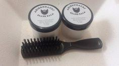 Adirondacks Beard Balm - 2oz (2 Jars) + Beard Brush Beard Balm kit for Men #Adirondacks