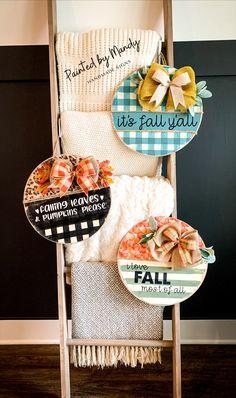 Custom Door Hangers, Pumpkin Leaves, Wooden Plaques, Fall Crafts, Harley Davidson, Burlap, Gifts, Ideas, Autumn Crafts