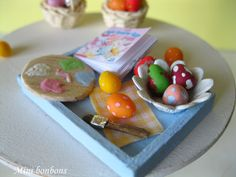 Decorating easter eggs  dollhouse miniature by Minibonbons on Etsy, €26.00