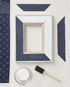 Diy Fabric Covered Mirror Crafts Pinterest Fabric