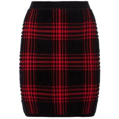 Alexander Wang Plaid Jacquard Skirt (2.330 BRL) ❤ liked on Polyvore featuring skirts, punk skirt, red print skirt, red plaid skirt, print skirt and red skirt