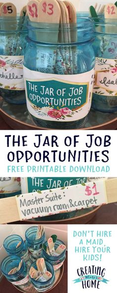 The Jar of Job Opportunities {Money Jar}