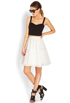 Embroidered Organza Skirt | FOREVER21 - 2000068509
