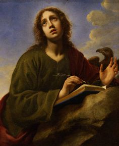 Saint John the Evangelist Writing the Book of Revelation (c1650) by Carlo Dolci (1616-c1686) | by kovno