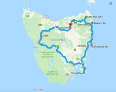 Tasmania Road Trip - Lavender Fields and Bay of Fires Amazing Things To Do in Australia Tasmania Road Trip, Tasmania Travel, Road Trip Map, Road Trips, Australian Road Trip, Gold Coast Australia, Saint Helens, The Beautiful Country, Travel Maps
