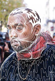 kanye illustration over photograph