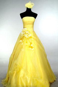 www.jana93.estranky.cz - Plesové šaty - Žluté