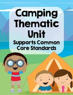 This thematic camping unit is a perfect resource to supplement a camping unit or if you're a family wanting to add some educational printables to your camping trip. This unit contains a ton of camping activities that support the common core standards for kindergarten. It can be used in math and literacy centers, for morning work, or as independent review.