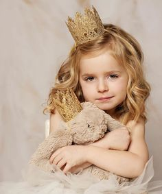 Look at this Love Crush Bowtique Gold Sienna Dolly & Me Crown Set on #zulily today!