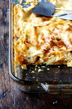 Butternut Squash Lasagna — an old Gourmet recipe...such a good one!
