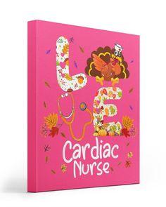 Love Cardiac Nurse Turkey Nursing Thanksgiving Aut - Cyber Pink oncology nursing, nsaids nursing, dic nursing #nursinggifts #nursingzenica #nursingbacktohealth