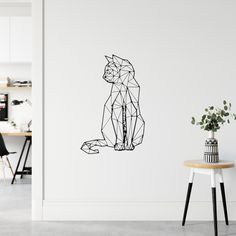 For cat and design lovers! Decorate your home with your unique style, show off your creativity and wow your visitors with this wall sticker. No wall damages. Our wall stickers are removable, reusable and repositionable. Wall Stickers, Wall Decals, Cat Design, Room Organization, Decorating Your Home, Room Decor, Cats, Creative, Unique