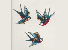 Cómo dibujar una golondrina como las usadas para tatuajes