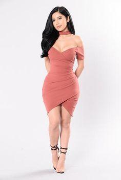 Jaded Dress - Marsala