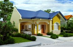 Small house design 2014007 belongs to single story house plans here at Pinoy ePlans. This house plan is a 125 sq. floor plan with 3 bedrooms and 3 bathrooms. House Roof Design, House Design Photos, Small House Design, Cool House Designs, Modern House Design, Bungalow Haus Design, Small Bungalow, Bungalow House Plans, Style At Home