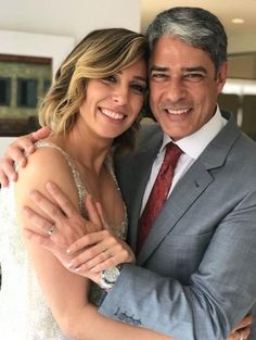 William Bonner e a esposa Natasha Dantas (Foto: Divulgação/O Globo) William Bonner, Couple Photos, Couples, Tv, Natural, Elopement Wedding, Husband, Boyfriends, Rolodex