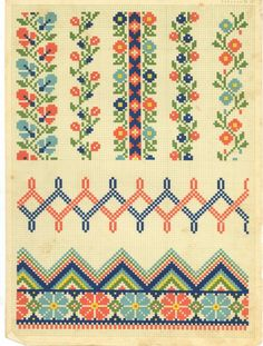 Border pattern / chart for cross stitch, crochet, knitting, knotting, beading, weaving, pixel art, and other crafting projects.