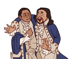 Laurens and Hamilton fanart by twistedcaliber