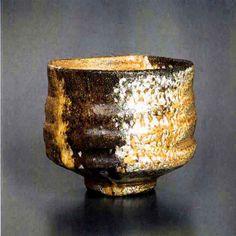 M.Wein Gold shino tea bowl