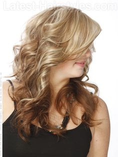 Extra Swoopy Side Fringe Long Style with Movement Side View - Long Spring Hairstyles