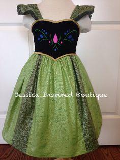 Frozen Inspired Princess Anna Coronation Sundress - Anna Coronation Dress on Etsy, $78.00