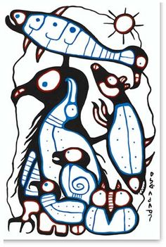 Capulet Art Gallery – Norval Morrisseau – No One Stands Alone South American Art, Native American, Woodland Art, Standing Alone, Indigenous Art, Native Art, First Nations, Art Therapy, Beadwork