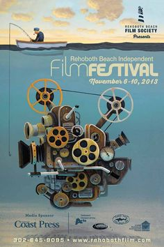 RAL Member Artist Damon Pla's artwork submission for the Rehoboth Beach Independent Film Festival Poster won again in 2013!