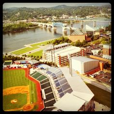 #chattanooga, lookouts field, tn river!