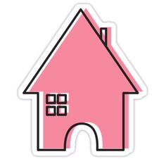 My original house illustration • Also buy this artwork on stickers, phone cases, home decor, and more. #stickers #fun #kids #laptops #realtors #house #home