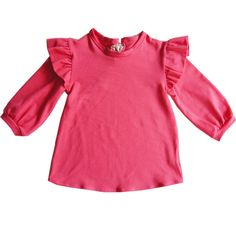 Tendre Deal - Flamingo pink jersey cotton and spandex Sleeves with wings T-shirt Exclusive online Boutique dedicated to Kids & French Designers