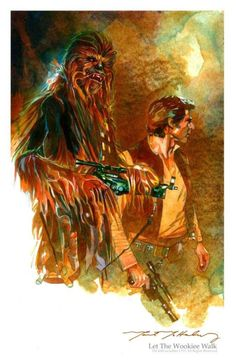 Han Solo and Chewbecca by Mark McHaley