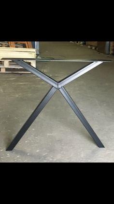 Metal Table Frame, Backyard Seating, Steel House, House Design, Epoxy, Interior, Furniture, Home Decor, Rustic Modern