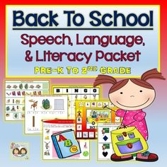Welcome back to school teachers and speech-language pathologists!  Shanda and I hope that you all had a wonderful summer and are ready for another fantastic teaching year! We have compiled a comprehensive packet for you to use at the start of any school year to address a large variety of speech, language and literacy goals with your pre-k to second grade students.